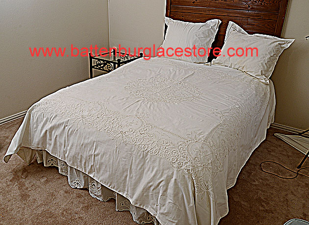 Battenburg Lace Duvet Cover Full or Queen sizes